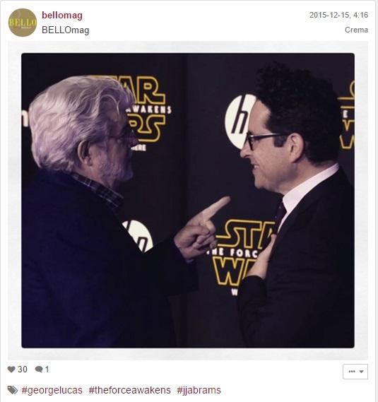 ג'יי ג'יי אברהמס וג'ורג' לוקאס בבכורת מלחמת הכוכבים